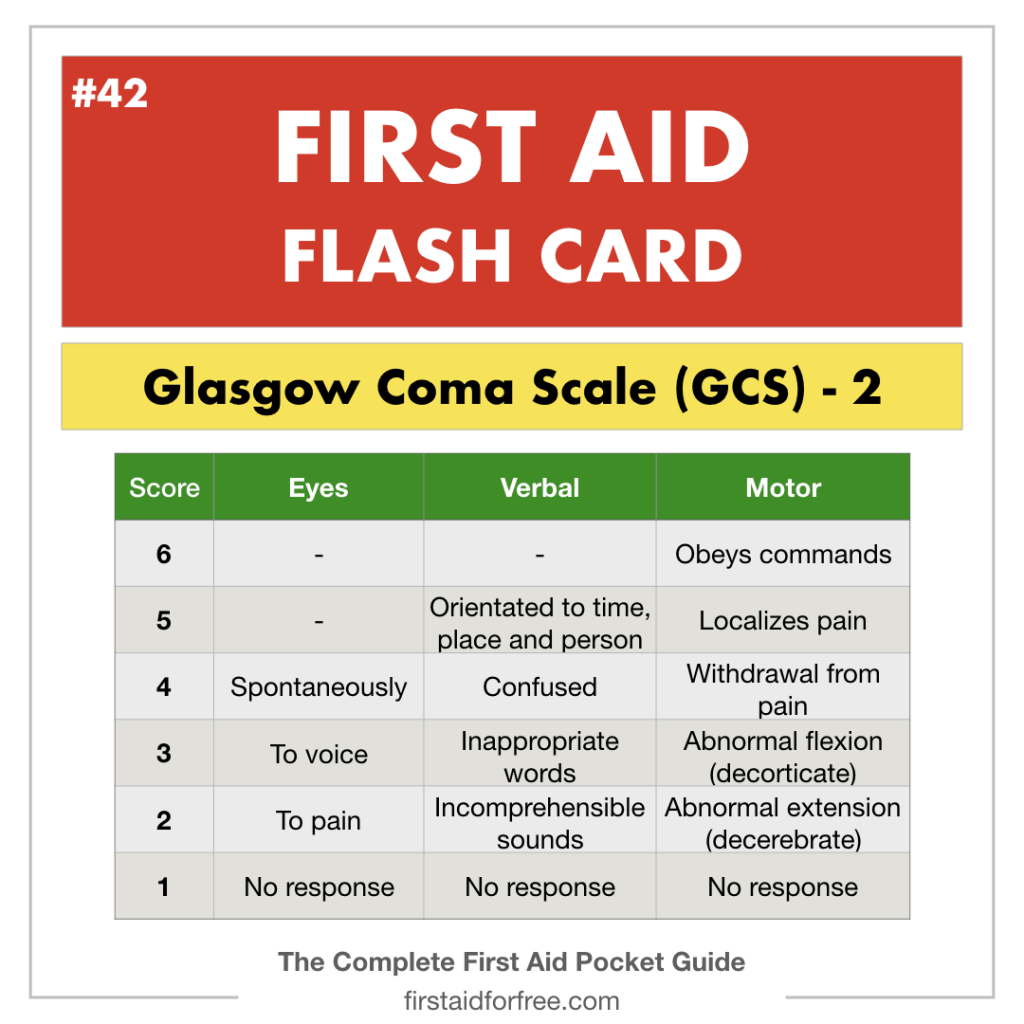 The Glasgow Coma Scale Gcs For First Aiders