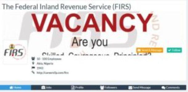 FIRS Recruitment 2018