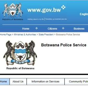 Botswana Police Service form