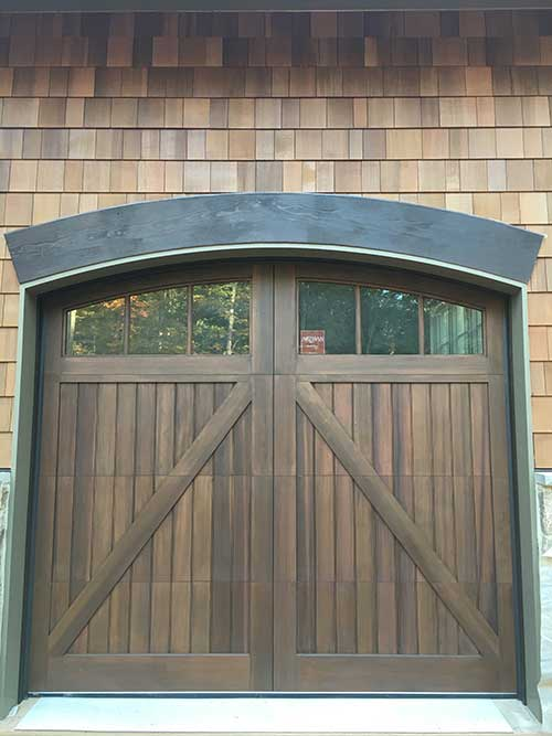 Artisan Custom Door Works Wood Garage Door Stain Grade