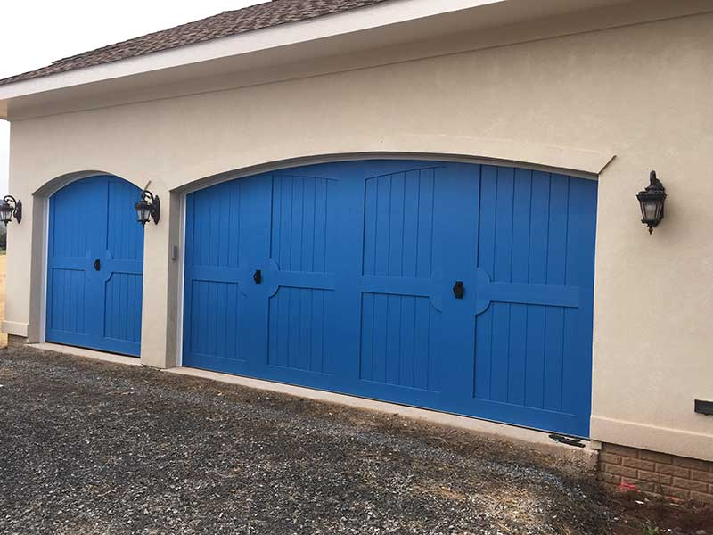 Clopay Canyon Ridge Blue Garage Doors