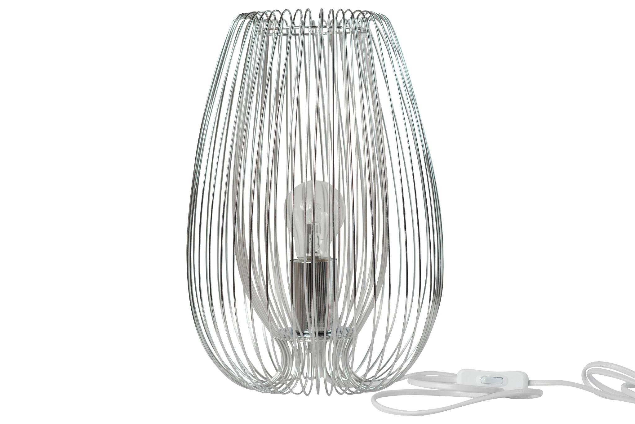 Contemporary Modern Polished Chrome Metal Wire Table