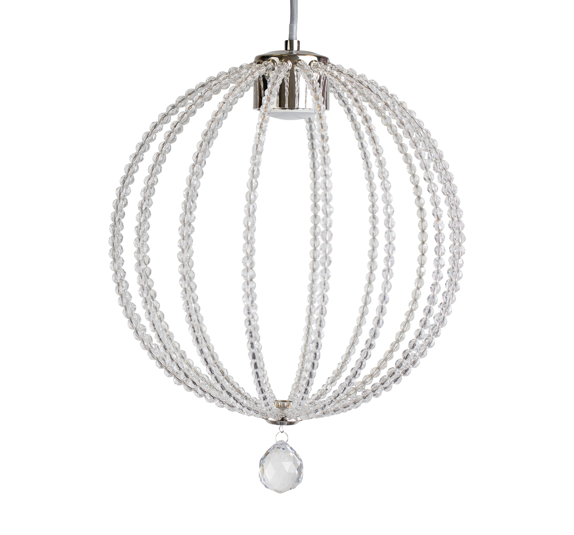 Modern Glam Jewelled Globe Acrylic Crystal Led Ceiling