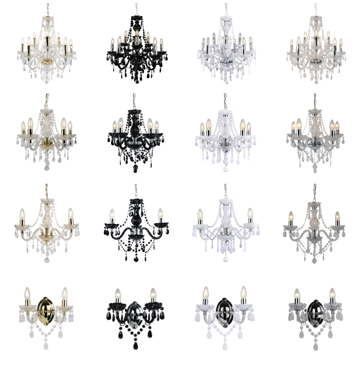Marie Therese 3 5 9 Ceiling Amp Wall Light Chandeliers