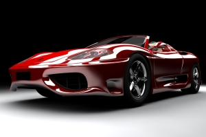 burgundy sports car