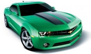 bright green chevy camaro