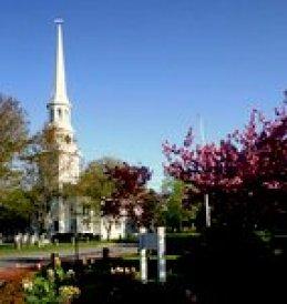 Church with Springtime Town Garden-001