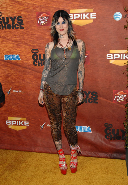 "Tattoo artist Kat Von D arrival at Spike TV's 2nd Annual ""Guy's Choice"""