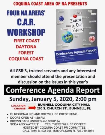 Coquina Coast Area Presents - Four Area CAR Workshop @ Bunnell   Florida   United States