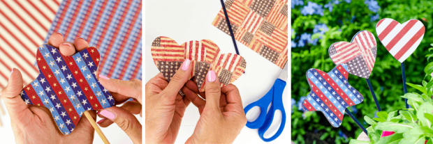 Patriotic Garden Stakes DIY - First Day of Home
