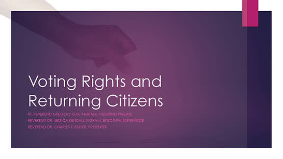 Rev. Charles Boyer – Voting Rights Returning Citizens