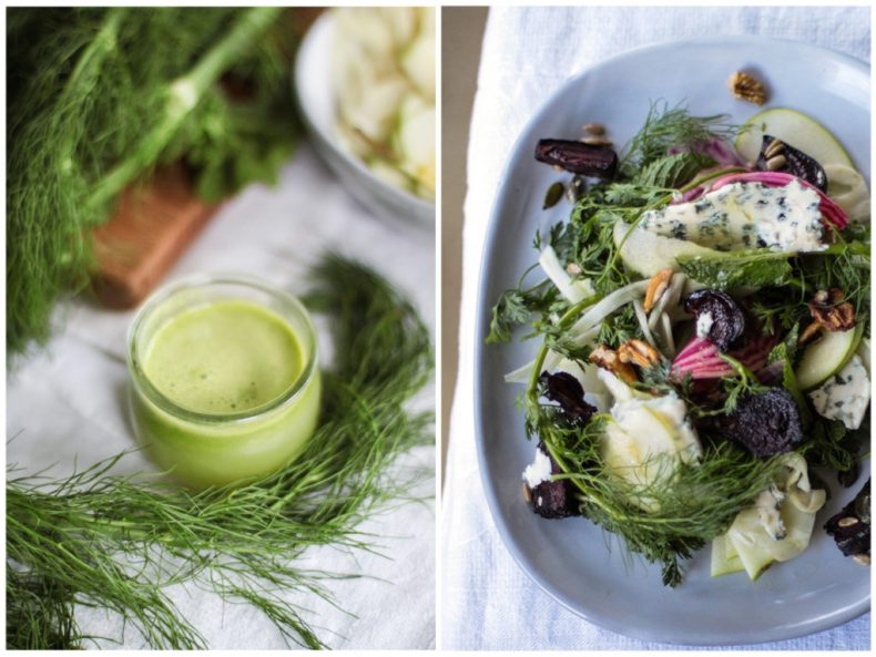 Fennel salad and lemon apple dressing