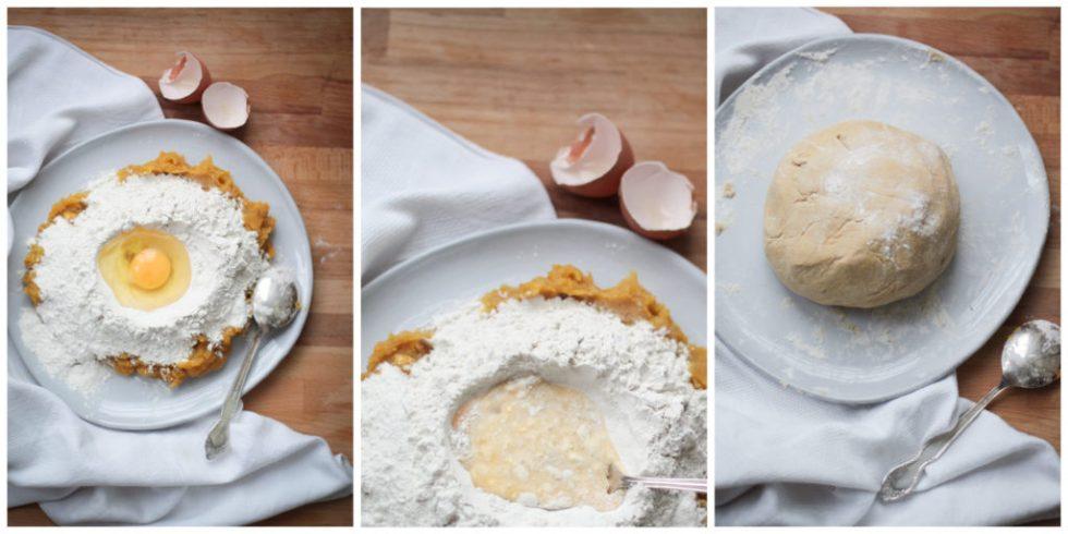 Process of making sweet potato gnocchi