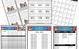 Classroom Forms and Substitute Information with a Dr. Seuss theme!