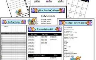 Ocean Themed Classroom Forms and Substitute Information Pages!