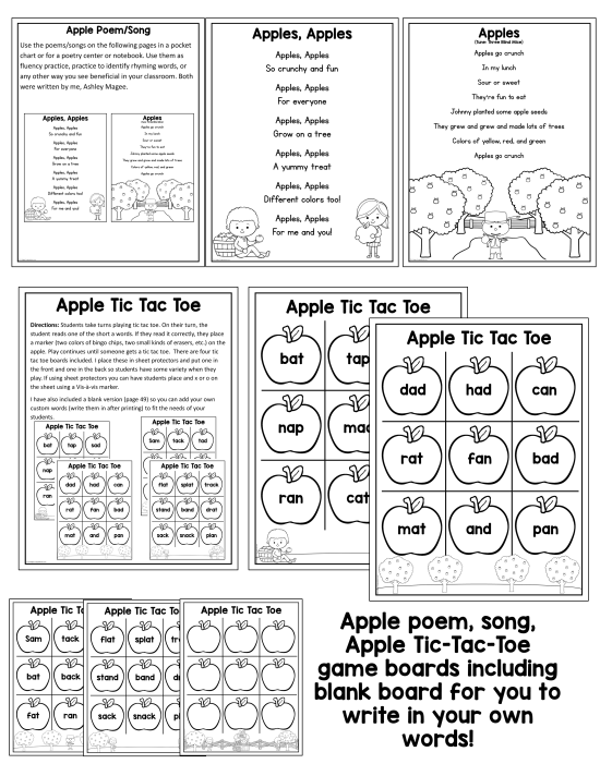 Johnny Appleseed Apple Fun Unit