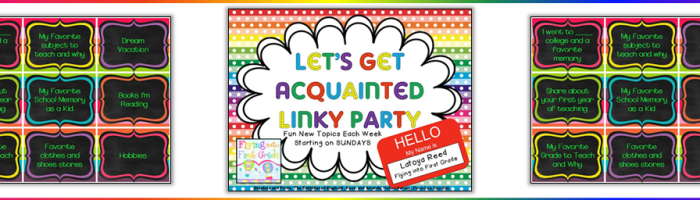 Let's Get Acquainted Linky Party (Tic Tac Toe!)