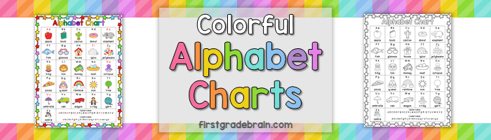 Colorful Alphabet Chart freebie