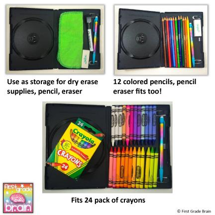 DVD Case Crayon Box