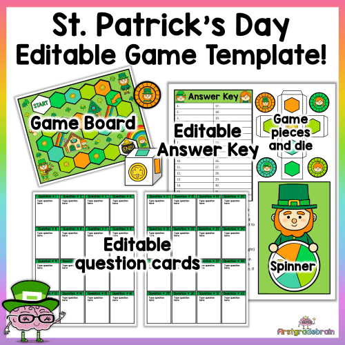 st patrick's day editable game template