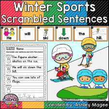 Winter Sports Scrambled Sentences