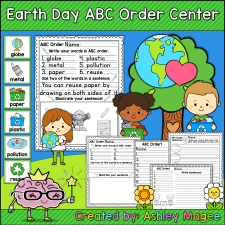 Earth Day ABC Order Center