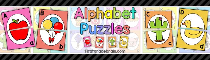 FREE Alphabet Puzzle Cards
