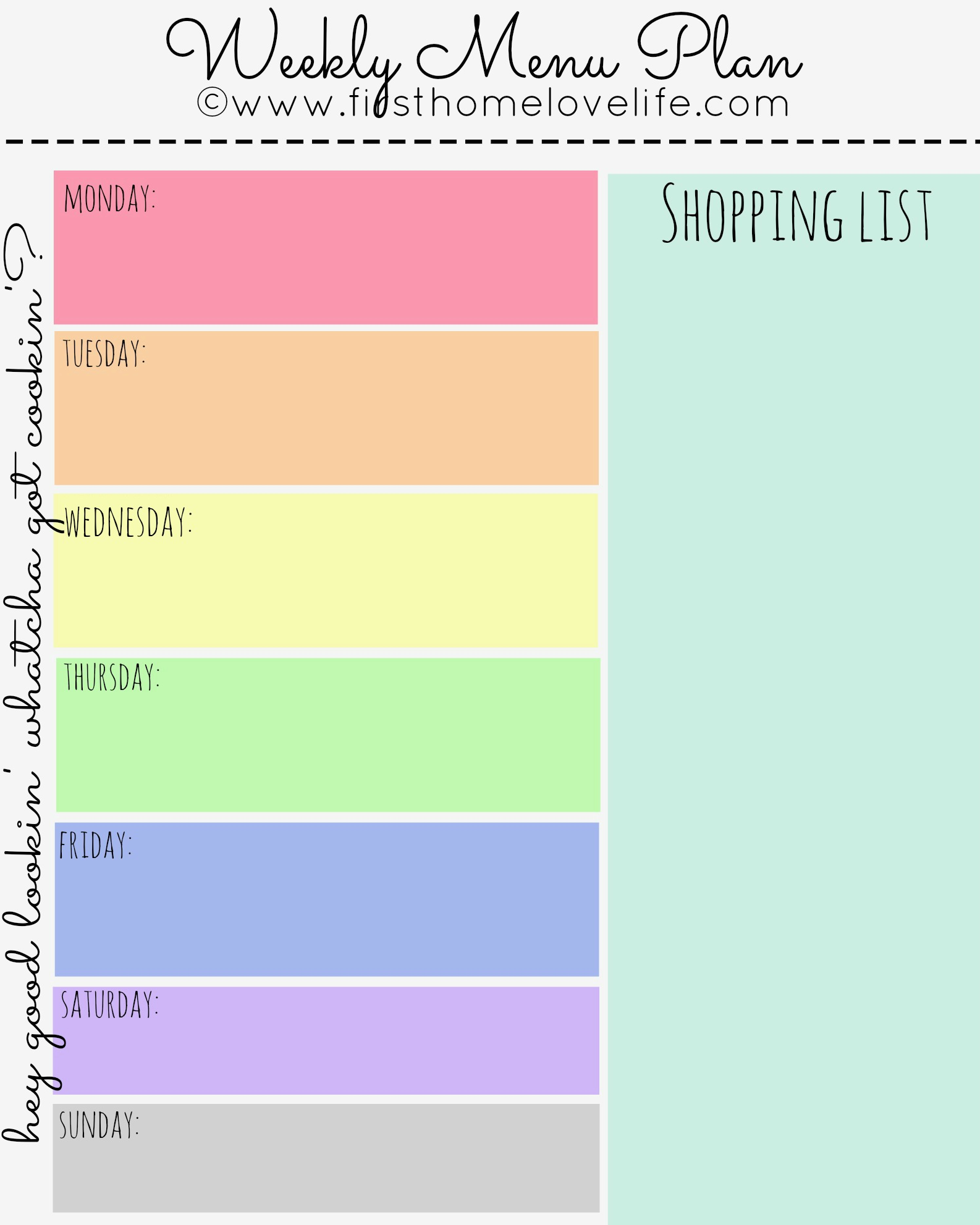 Search Results For Weekly Meal Plan Calendar