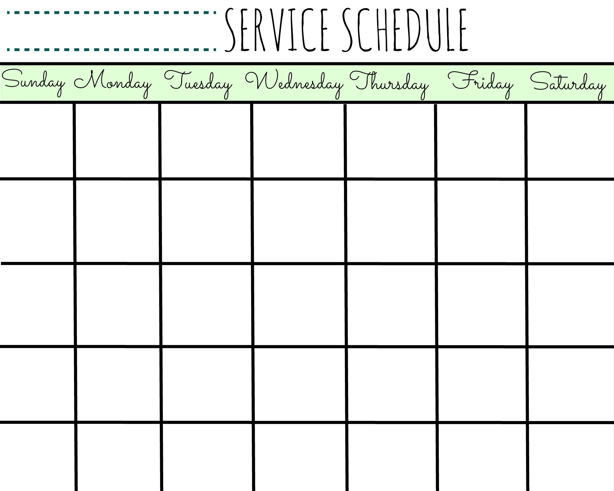 Best Printable Schedual