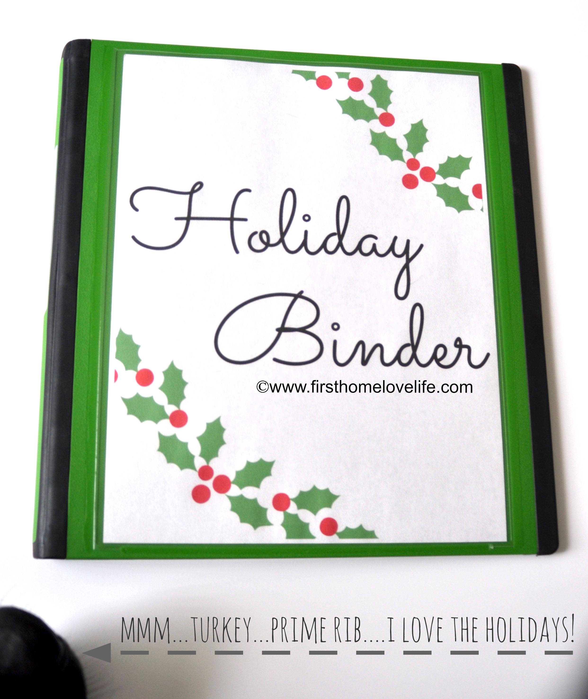 Holiday Organization Binder Part 1
