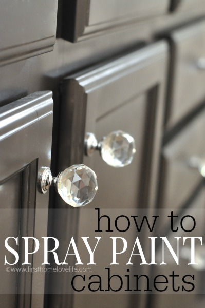 Can You Use Spray Paint To Cabinets Sure I M Showing