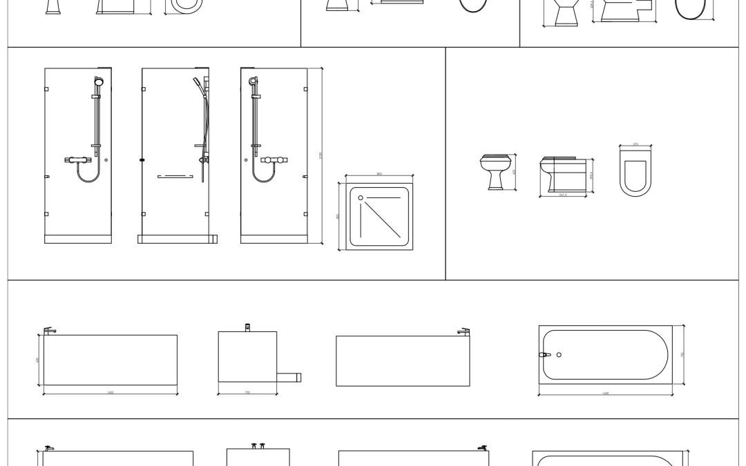 Free CAD Blocks – Bathroom 01