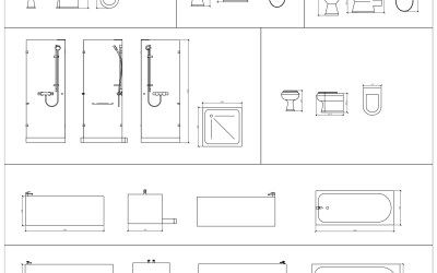 Free CAD Blocks – Bathroom 01