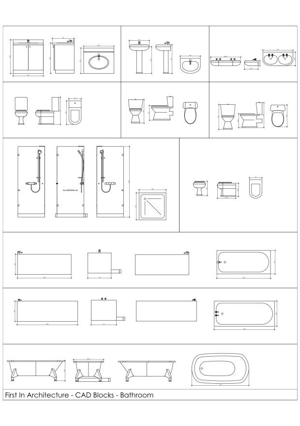 FIA Bathroom CAD Blocks 01