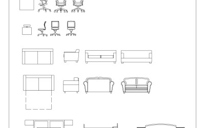 Free CAD Blocks – Furniture 01