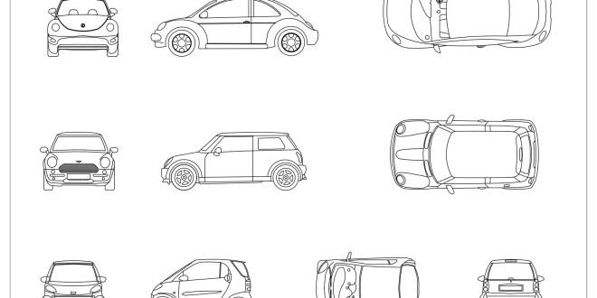 CAD Blocks - Cars 02
