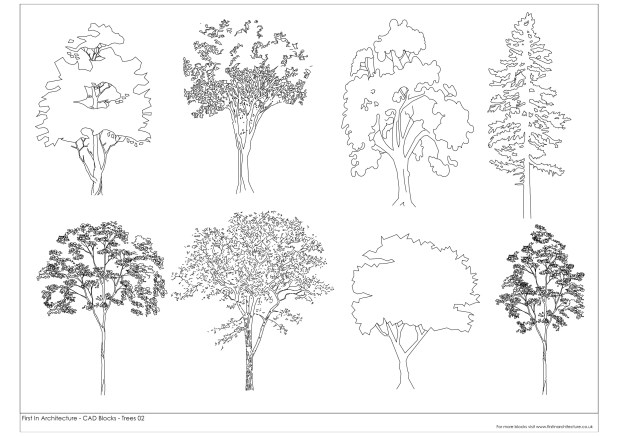 FIA Trees CAD Blocks 02