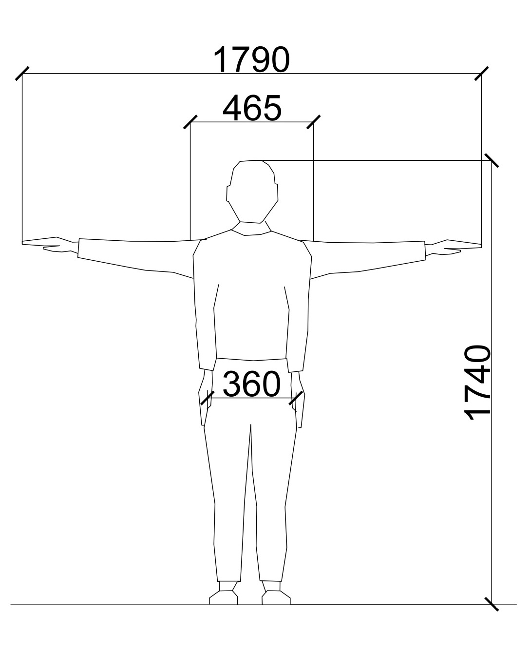 Average man height of a STATURE