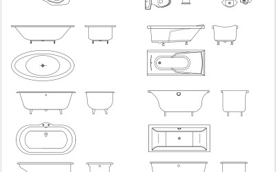 Free CAD Blocks – Bathroom 02