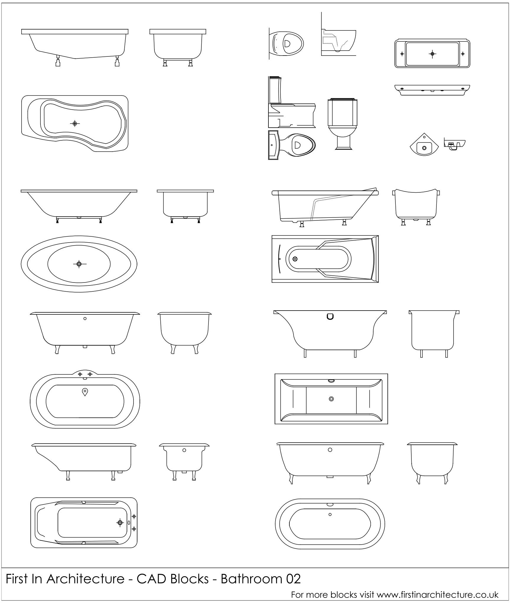 Free Cad Blocks Bathroom