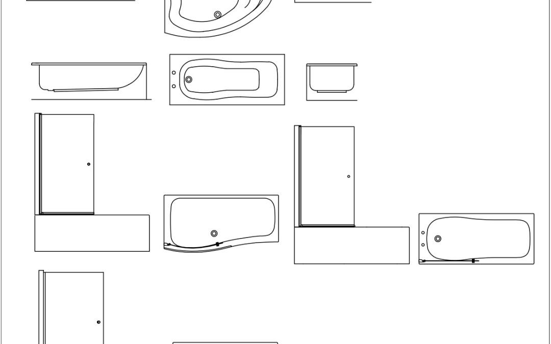 Free CAD Blocks – Baths 01