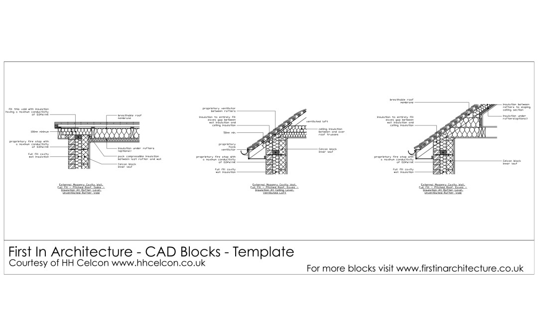 Free CAD Blocks – Roof Details 01