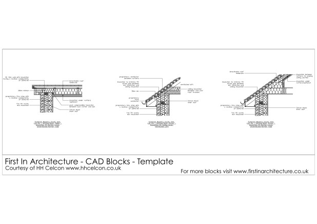 FIA CAD Blocks Roof Details H + H