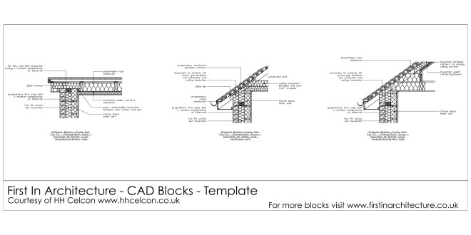 Free Cad Blocks Roof Details First In Architecture