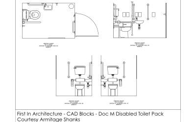 Free CAD Blocks – Doc M Disabled Toilet