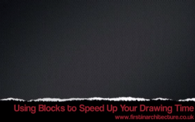 Two Minute Cad Tips – Use cad blocks to speed up your drawing time