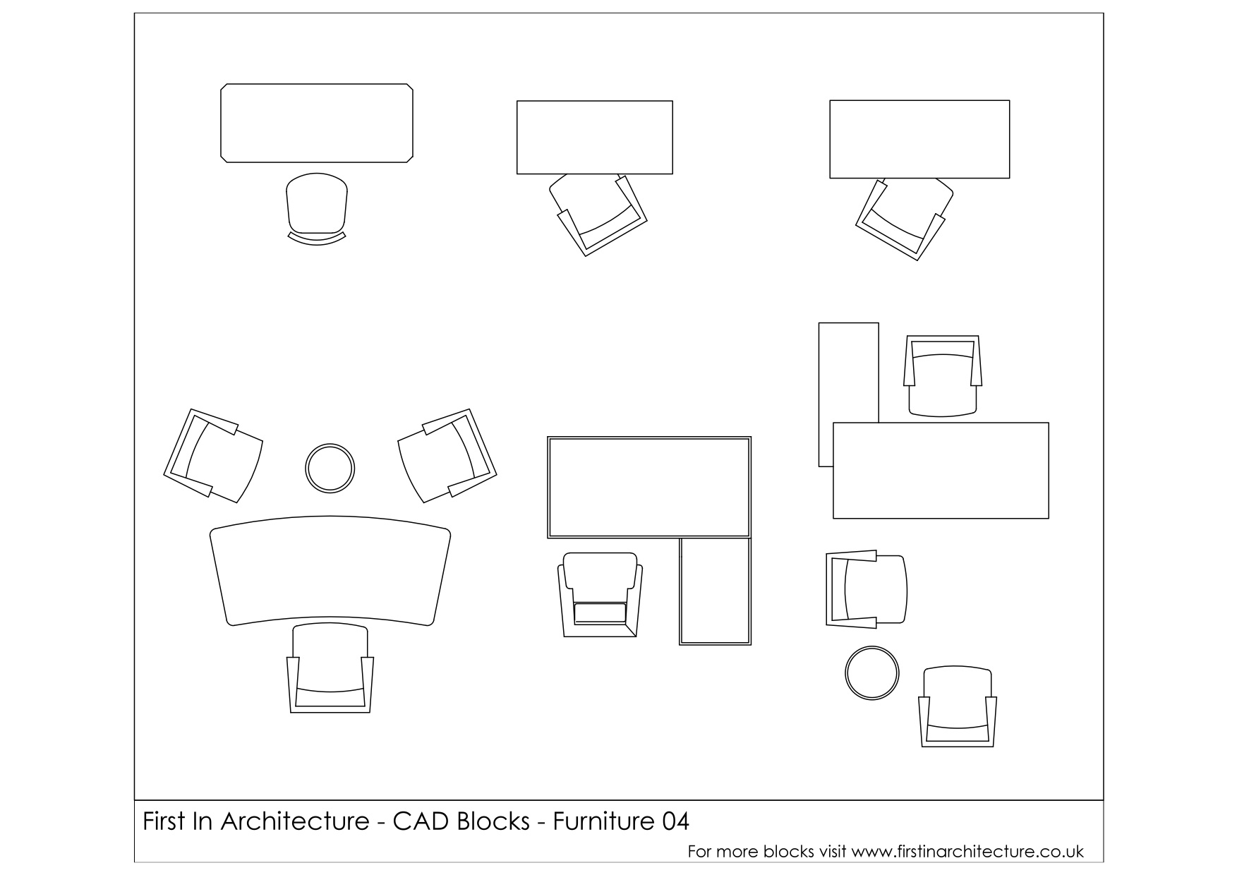 Free Cad Blocks Furniture Office Desks First In