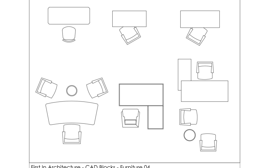 Free CAD Blocks – Furniture (Office Desks)