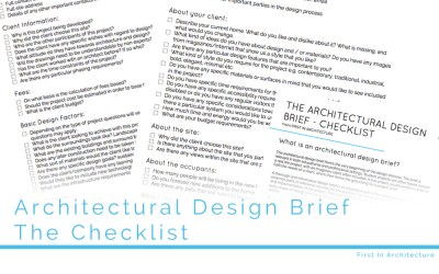 The Architectural Design Brief – The Checklist