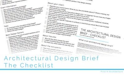 The Architectural Design Brief – The Checklist